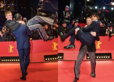 Jonas Smulders and Franz Rogowski 2018 European shooting stars berlinale palast