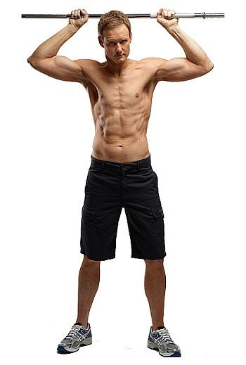 dan walker shirtless body abs challenge
