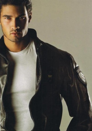 french canadian male models - Francis Cadieux leather jacket