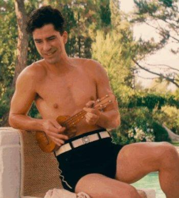 hamish linklater shirtless in speedo swimsuit