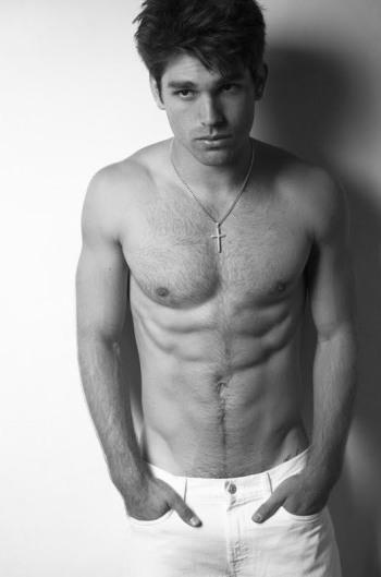 justin gaston model body hair