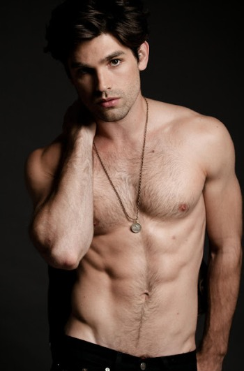 justin gaston shirtless abs