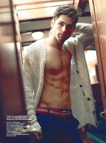 justin gaston shirtless model