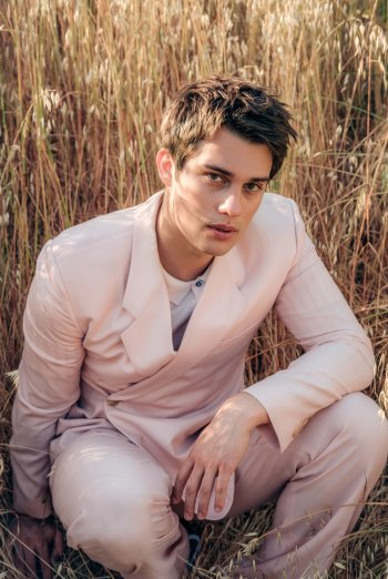 nicholas galitzine hot in suit by dior for vman magazine