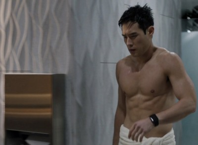 raymond lee shirtless body in hbo show here and now
