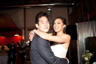 raymond lee wedding to wife stacy
