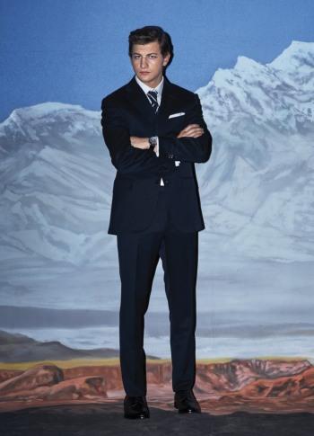 tye sheridan hot in suit and tie - Corneliani suit - w magazine